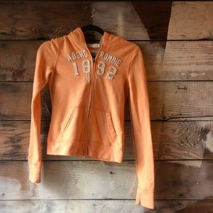 Abercrombie & Fitch Tops - Abercrombie Size Large Light Orange Hoodie Fullzip